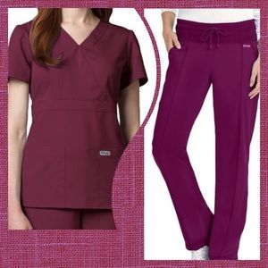 Grey's Anatomy by Barco Scrubs Top & Pants Sz L